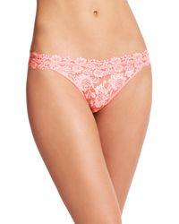 Hanky Panky - Pink Cross Dye Original Thong - Lyst