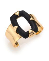 Alexis Bittar - Metallic Lakana Lucite Link Cutuout Cuff Bracelet - Lyst