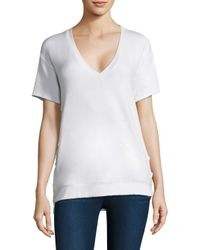 Feel The Piece - Women's Charles Lace-up Tee - White - Size Xs - Lyst