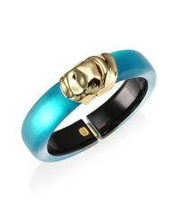 Alexis Bittar - Blue Lucite Watery Metal Lucite Hinge Bracelet - Lyst