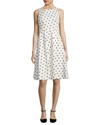 L.K.Bennett | White Octavia Stretch-cotton Sateen Dress | Lyst