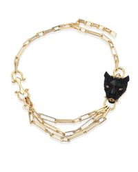 "Alexis Bittar - Metallic Crystal Encrusted Panther Chain Necklace, 20"" - Lyst"