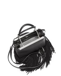 Alexander Wang - Black Dime Fringed Leather Satchel - Lyst