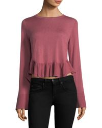 Joie - Pink Iona Bell-sleeve Sweater - Lyst