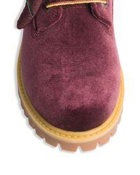 Off-White c/o Virgil Abloh - Multicolor X Timberland Velvet Boots - Lyst