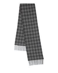 John Varvatos | Black Plaid Wool & Cashmere Scarf for Men | Lyst