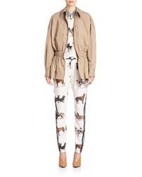 Stella McCartney   Blue Ruched-waist Jacket   Lyst