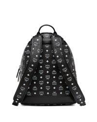 MCM - Black Logo Coated Canvas Backpack for Men - Lyst