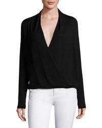 Joie - Black Lien Crossover Sweater - Lyst
