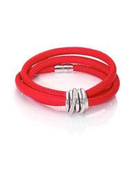 De Grisogono - Pink Allegra Diamond, 18k White Gold & Leather Wrap Bracelet/parrot - Lyst
