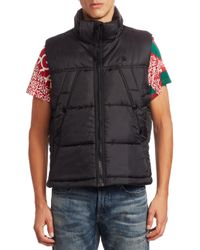 G-Star RAW - Black Whistler Hooded Vest for Men - Lyst