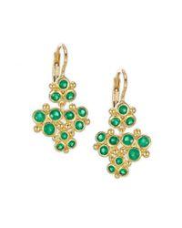 Temple St. Clair - Metallic Cluster Trio Emerald Earrings - Lyst