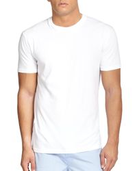 Saks Fifth Avenue - White Crewneck Tee, 3-pack for Men - Lyst