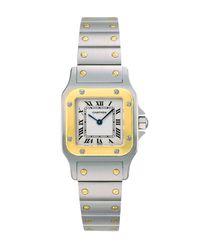 Cartier | Santos De GalbÉE Stainless Steel & 18K Yellow Gold Small Bracelet Watch | Lyst