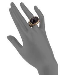 John Hardy - Metallic Batu Dot Onyx, 18k Yellow Gold & Sterling Silver Dome Ring - Lyst