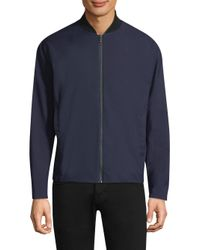 Theory - Blue Tailored Eclipse Bomber for Men - Lyst