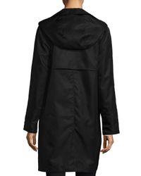 Jane Post - Black Mock Double Look Raincoat - Lyst