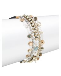 Chan Luu - Multicolor Abalone Mix Stone Bracelet - Lyst