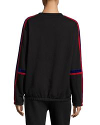 Public School - Black Azalea Velvet Sweatshirt - Lyst