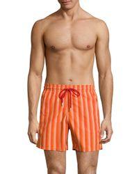 Vilebrequin - Multicolor Herringbone-print Swim Trunks for Men - Lyst