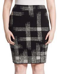 Stizzoli   Black Printed Skirt   Lyst