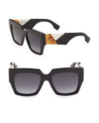 Fendi - Black 52mm Wayfarer Sunglasses - Lyst