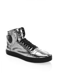 Versace - Multicolor Leather High-top Sneakers for Men - Lyst