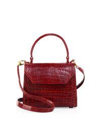 Nancy Gonzalez - Red Mini Lily Crocodile Top Handle Bag - Lyst