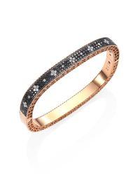 Roberto Coin - Metallic Princess Diamond & 18k Rose Gold Bangle - Lyst