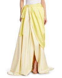 Rosie Assoulin - Yellow Women's Draped Silk Wrap Ball Skirt - Sherbert - Size 2 - Lyst