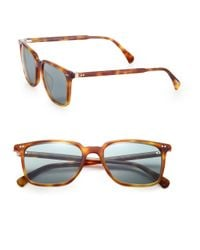 Oliver Peoples - Brown 53mm Square Sunglasses for Men - Lyst