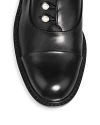 Stuart Weitzman - Black Mrspat Brando Leather Oxfords - Lyst