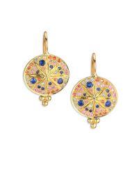 Temple St. Clair | Metallic Celestial Multicolor Sapphire & 18k Yellow Gold Sorcerer Drop Earrings | Lyst