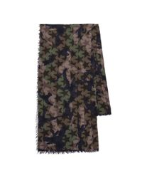 097a966f8c2a Lyst - Valentino Camouflage Stars Cashmere   Silk Scarf in Green