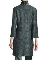 St. John - Green Spark Wool Jacket - Lyst