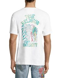 True Religion - White Indian Chief Tee for Men - Lyst