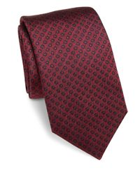 Saks Fifth Avenue - Red Circle Dot Silk Tie for Men - Lyst