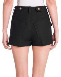 Miu Miu - Black Cotton Pocket Shorts - Lyst