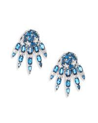 Nikos Koulis - Spectrum Diamond & London Blue Topaz Stud & Ear Jacket Set - Lyst