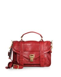 Proenza Schouler - Red Ps1 Tiny Leather Satchel - Lyst