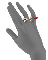 Delfina Delettrez - Metallic Anatomik Polifemo Double Ring - Lyst