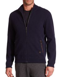 Ferragamo | Blue Full Zip Cashmere Sweater for Men | Lyst