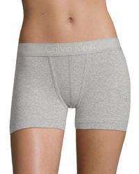 Calvin Klein - Gray Body Boyshort - Lyst