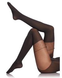 Wolford - Black Daphne Tights - Lyst