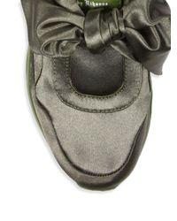 PUMA - Green Fenty X Rihanna Satin Bow Sneakers - Lyst