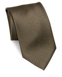 Brioni - Green Printed Silk Tie for Men - Lyst