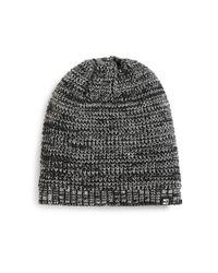Block Headwear Black Marled Knit Beanie for men