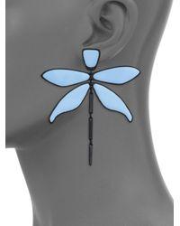 Tory Burch - Blue Dragonfly Earrings - Lyst