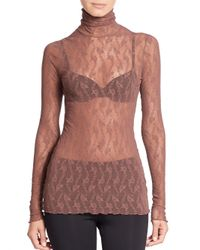 Wolford - Red Lilie Turtleneck Top - Lyst