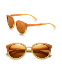 Tory Burch | Brown Oversized Round Sunglasses | Lyst